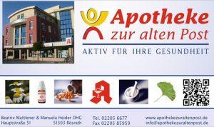"""Sponsor der Woche: """"Apotheke zur alten Post"""""""